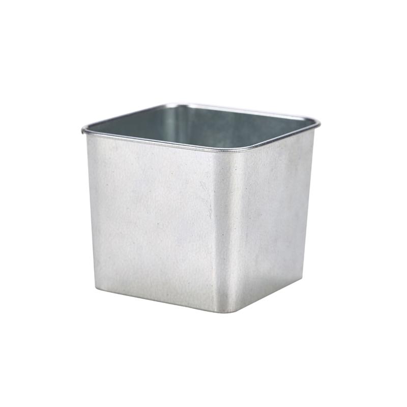 Galvanised Steel Square Tub 8 x 8 x 6cm - Case Qty 1 - Table ...